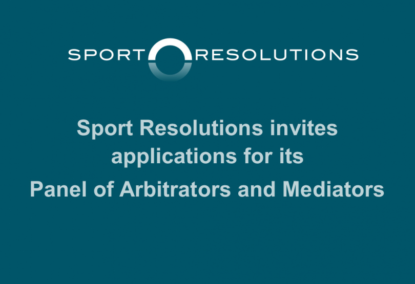 Sport Resolutions invites applications for its Panel of Arbitrators and Mediators