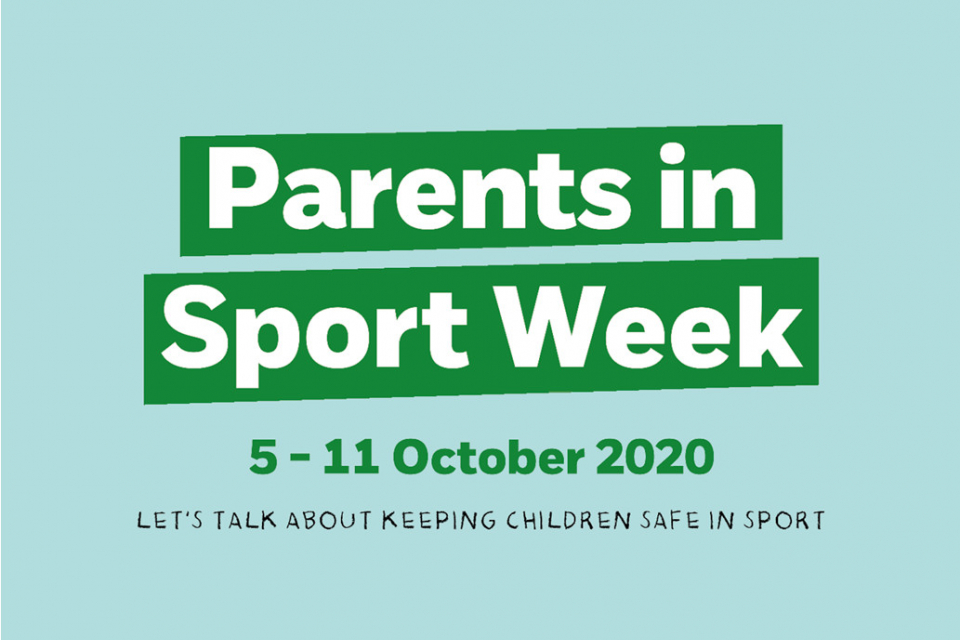 We are supporting Parents in Sport Week