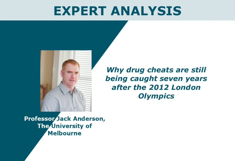 Why drug cheats are still being caught seven years after the 2012 London Olympics