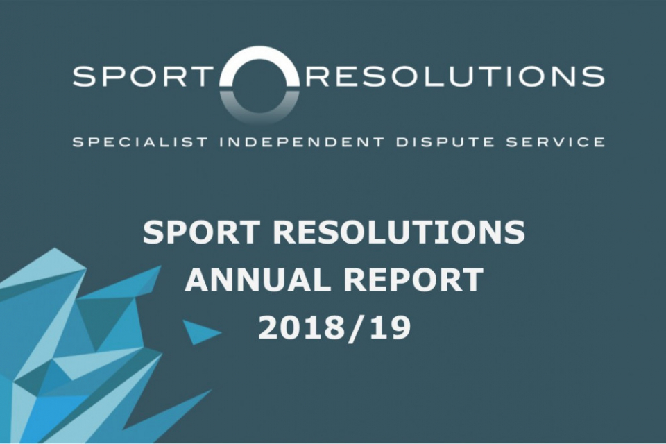 Sport Resolutions publishes 2018-19 Annual Report