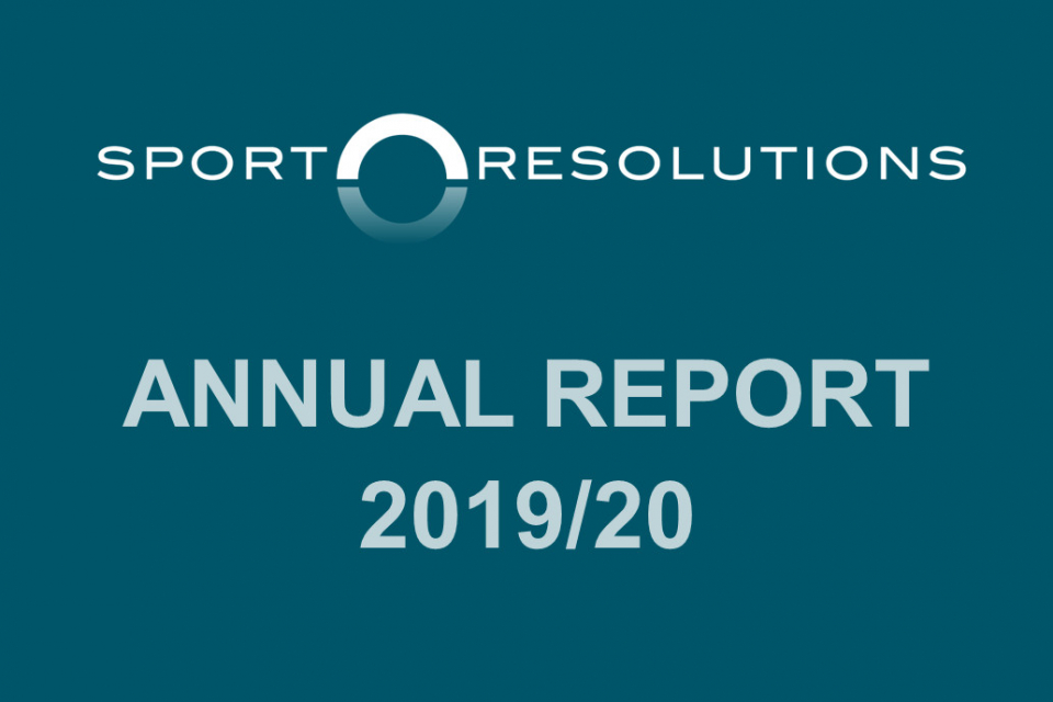 Sport Resolutions' 2019-20 Annual Report is ready to view