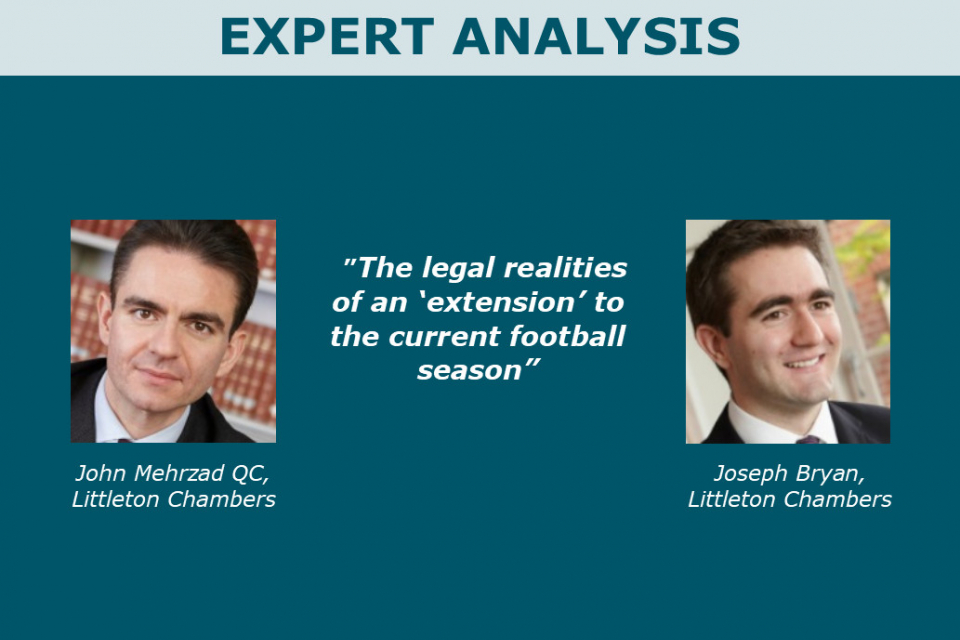 The legal realities of an 'extension' to the current season