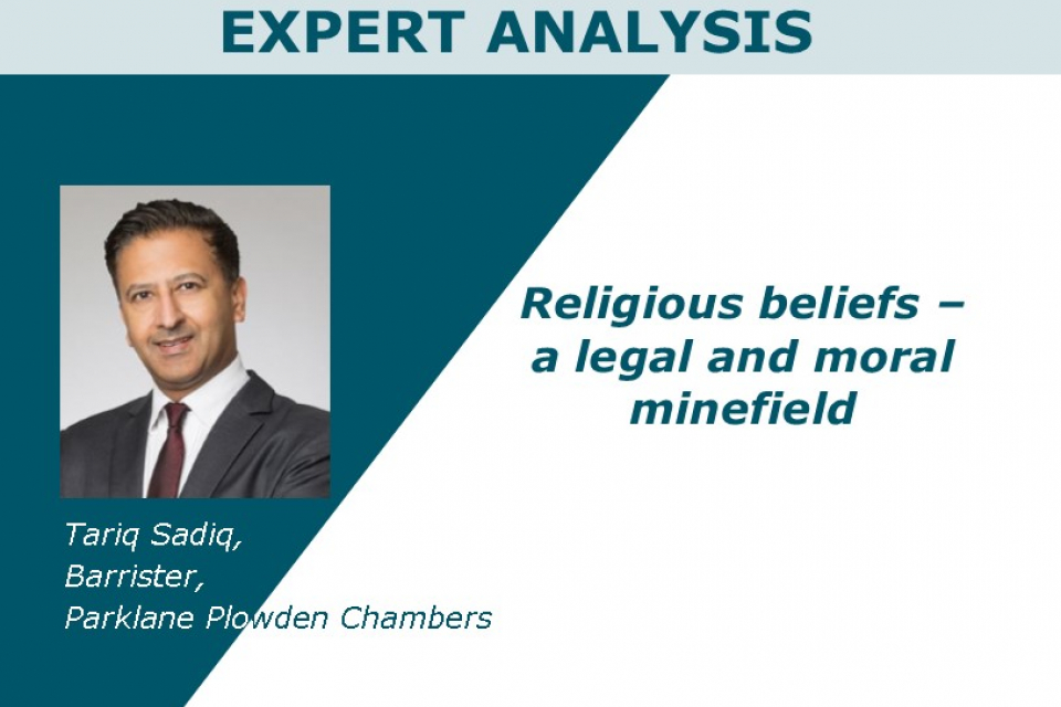 Religious beliefs – a legal and moral minefield