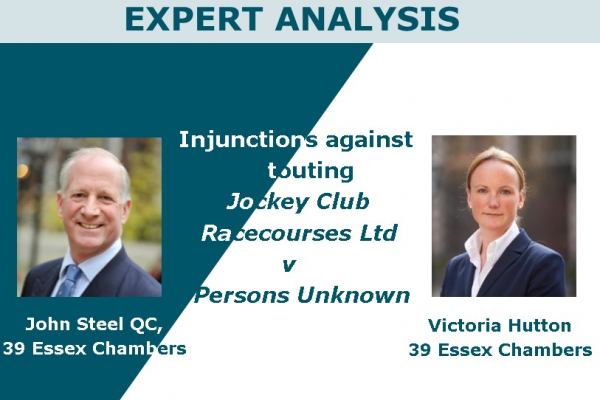 Injunctions against touting – Jockey Club Racecourses Ltd v Persons Unknown