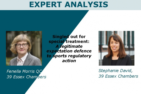 A legitimate expectation defence to sports regulatory action