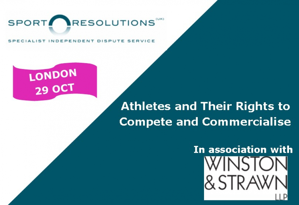 SEMINAR | Athletes and Their Rights to Compete and Commercialise