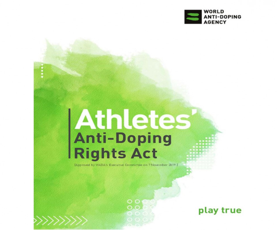 WADA publishes final version of Athletes Anti-Doping Rights Act